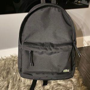 Black medium sized Lacoste backpack